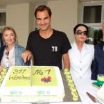Roger Federer zur Mission Titelverteidigung in HalleWestfalen eingetroffen