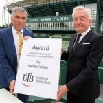 Gerhard Weber vom Deutschen Tennis Bund für sein Lebenswerk geehrt