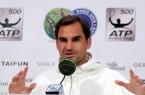 GERRY WEBER OPEN-Rekordchampion Roger Federer stand vor seiner Erstrunden-Partie bei der 26. Turnierauflage gegen den Slowenen Aljaz Bedene den Journalisten in einer Pressekonferenz Rede und Antwort. © GERRY WEBER OPEN/HalleWestfalen