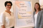 Gaben Tipps für erfolgreiche Webseitentexte: Dorothee Bluhm (WortParade) und Anna Niehaus (pro Wirtschaft GT). © pro Wirtschaft GT