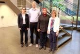 Für die Projekte FörGES 2 und FörGES 3 an der FH Bielefeld zuständig: (v.l.) Prof. Dr. Änne-Dörte Latteck, Dr. Dirk Bruland, Havva Mazi und Prof. Dr. Katja Makowsky. © Katharina Stupp