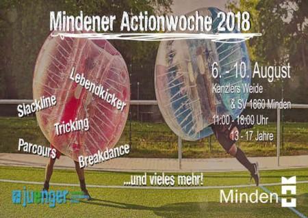 Ein Foto vom Flyer Actionwoche in den Sommerferien (© Stadt Minden).