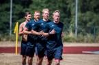 Trainingsauftakt des deutschen Handballmeisters SG Flensburg-Handewitt mit Unterstützung der Universität Paderborn.Fotos SG Flensburg-Handewitt.