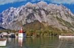 Königssee Kirche und Boot
