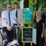 Neue E-Bike-Ladesäule in Wiedenbrück