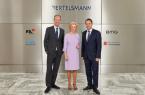 Auf Einladung von Liz Mohn und Thomas Rabe besuchte der Premierminister des Großherzogtums Luxemburg, Xavier Bettel, das Bertelsmann Corporate Center in Gütersloh.