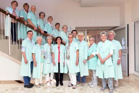 Die Grünen Damen im Klinikum Gütersloh (es fehlen: Inge Ahnepohl und Yvonne Santjer)