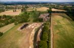Luftbilder der Dalke im Bereich Ruhenstrothswiese.