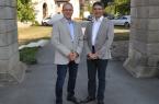Dr. Detlef Michael Ringbeck (l.) und Dr. Christian Stelzner referierten in der Abtei zu Marienmünster.