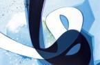 """Frisch aus dem Atelier: Die Malerei """"Verve 5"""" im Format 120 mal 160 cm von Aatifi in der neuen Ausstellung im Schauraum. Abbildung: © Atelier Aatifi / Repros: Wolfgang Holm"""