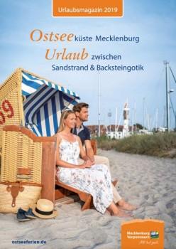 """Cover Urlaubsmagazin 2019 """"Ostseeküste Mecklenburg – Urlaub zwischen Sandstrand und Backsteingotik"""""""
