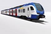 Mit modernen Fahrzeugen des Typs Stadler Flirt wird die NordWestBahn in der Region Hannover ihre Fahrgäste sicher und komfortabel ans Ziel bringen. Grafik: Transdev