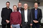 Neurologe Dr. Uwe Heckmann (2. v. r.) hatte Experten eingeladen, um sich über die Verbesserung der Rettungskette für Schlaganfall-Patienten auszutauschen (v. l.): Neurologe Priv.-Doz. Dr. Jan Liman und Neuroradiologe Dr. Volker Maus von der Uniklinik Göttingen, Notarzt Dr. Rolf Schulte vom Rettungsdienst im Kreis Höxter sowie Notarzt Priv.-Doz. Dr. Markus Roessler von der Uniklinik Göttingen. © Katholische Hospitalvereinigung Weser-Egge gGmbH