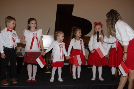 Kindergruppe, deutsch-polnische Freundschaft