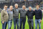 Foto (v.l.): Martin Hornberger (SCP-Geschäftsführer), Dr. med. Karl Schünemann, Dr. med. Hans Walter Hemmen, Dr. med. Lutz Mahlke, Dr. med. Matthias Porsch und Markus Krösche (Geschäftsführer Sport).