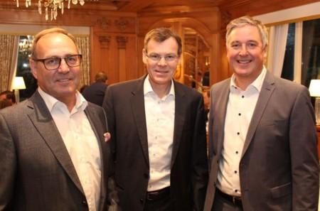 Die Herausforderungen im Einzelhandel waren Thema beim Unternehmerfrühstück: (v.r.) Bürgermeister Henning Schulz, Reiner Schenke, Wirtschaftsförderer Rainer Venhaus.