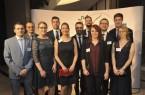 IHK-Referent Björn Kelle (links) begleitete die erfolgreichen Auszubildenden aus der Region bei ihrer Auszeichnung in Berlin.  (Foto: DIHK / Jens Schicke)