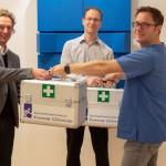 Neue Sanitätskoffer für die Nachwuchsfußballer des Gütersloher TV