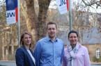 Haben ihren neuen Job in den LWL-Kliniken Lippstadt und Warstein angetreten: (v.l.) Johanna Süllentrop, David Holtkamp, Nikola Sohn. Foto: LWL