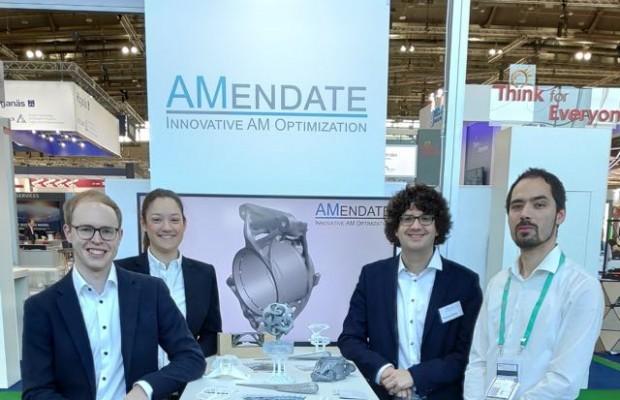 Der Award der Challenge zeichnete den Stand des Paderborner Startups als Gewinner aus und sorgte auf der Messe für viel Aufmerksamkeit.Foto :(AMendate GmbH