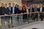 Win-Win-Situation: Thomas Sprehe (l.) sowie Daniel Beermann (2.v.l.), Lena Hartmann (4.v.r.) und Projektleiterin Anja Schulte (3.v.r.) konnten für die zweite Runde des Mentorenprogramms ShareXperience sechs neue Tandems begrüßen. Foto: WJ PB + HX