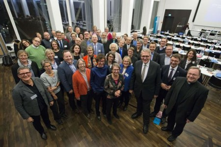 Konstituierung des Gemeinsamen Praesidiums des 3. Oekumenischen Kirchentages am 07.12.2018 in der Evangelischen Akademie Frankfurt.