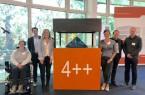 Vertreter des Projekts LernBAR tauschten sich mit Dr. Patrick-Benjamin Bök (2.v.l.) zu Augmented Reality aus.