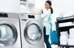 """Viel Platz für Wäsche auf kleinem Raum: Eine Waschmaschine und ein Trockner aus der neuen Generation """"Kleine Riesen"""". Auf jeweils einem halben Quadratmeter sorgen sie schon innerhalb von 49 Minuten für saubere und in 38 Minuten für trockene Wäsche. Zum ersten Mal sind diese Geräte live während der Internorga 2019 in Hamburg zu sehen."""