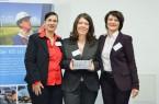 (v.l.) Die Ingenieurinnen des Jahres Eva Hermens (2011), Feray Ebaylar (2012) und Marlies Gerstkämper-Oevermann (2010). Foto: VDI OWL/Archiv