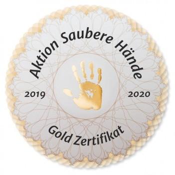 "Aktion ""Saubere Hände"": Goldzertifikat"