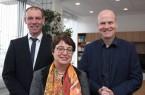 Tauschten sich über die regionale Start-Up- und Gründer-Szene aus: v. l.: Prof. Dr. Johannes Blömer, Prof. Dr. Birgitt Riegraf und MdB Ralph Brinkhaus. Foto: Nina Reckendorf