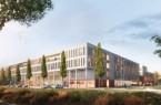 Architekten-Entwurf der ZM2. Das Gebäude passt gestalterisch zur 2011 errichteten ZM1.