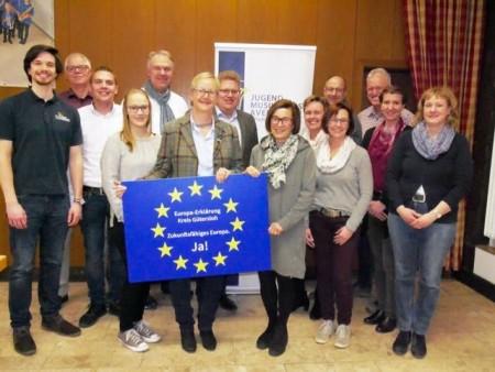 Vorstand des Jugendmusikkorps Avenwedde – Stadt Gütersloh e.V. unterzeichnet die Europa-Erklärung
