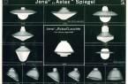 Deckenbeleuchtung aus einem Katalog des Jenaer Glaswerks Schott & Gen, unter anderem mit Leuchten von Wilhelm Wagenfeld, 1930-32. Foto: Schott Archiv