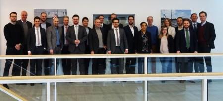 (Universität Paderborn): Das Impress-Projektkonsortium beim Kickoff am 23. Januar 2019 am Fraunhofer IEM.