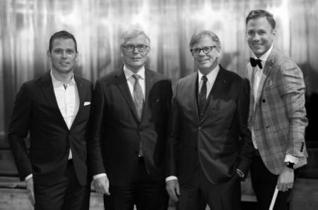 Geschaeftsfuehrung bugatti Holding Brinkmann, von links Markus Brinkmann, Wolfgang Brinkmann, Klaus Brinkmann, Julius Brinkmann.jpg (ca. 3,5 MB) (Foto: Uwe Weiser)