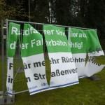 Banner in Isselhorst durch Vandalismus zerstört
