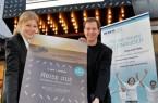 """Präsentieren die besondere Kinopremiere der Reisedokumentation ,,Reiss aus"""" am 5. April im Pollux - FIlmtheater (v.l. Pia Heggemann (Theaterleiterin Pollux by Cineplex) und Jörg Reker (Gründer Reker - Stiftung)."""