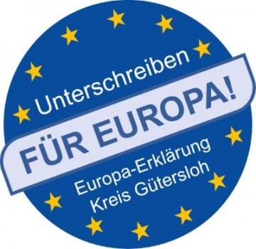 Europa-Erklärung: Wer ein Zeichen für die EU setzen möchte, kann die Erklärung auf Papier oder online unterschreiben.