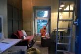 Blick ins Innere des Minihauses. Foto: Luise Loué
