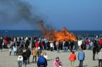 Auch in diesem Jahr wird traditionell das Osterfeuer am Hauptstrand von  Damp entzündet (Foto: Ostsee Resort Damp)