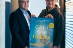 """(TecUP): v. l. Karl-Heinz-Rawert, Vorstandsmitglied der VerbundVolksbank OWL, und Prof. Dr. Rüdiger Kabst, Leiter des Technologietransfer- und Existenzgründungs-Centers der Universität Paderborn, freuen sich auf den Start des """"Call for Ideas""""-Wettbewerbs."""