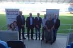 Die Referenten des Symposiums 2019 (v. l.): Dr. Ulrich Schneider, Prof. Dr. Dr. Claus Reinsberger, Prof. Dr. Tim  Meyer, Dr. Matthias Porsch, Dr. Alli Gokeler,  Prof. Dr. Jochen Baumeister