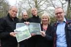 """Die """"Buchmacher"""": v.l. Eckard Klessmann, Bernd Winkler, Detlef Güthenke, Susanne Zimmermann,  Matthias Borner"""