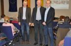 Reinhard Schulz, Dr. Volker Knapczik und Dr. Marcus Rübsam (v.l.) beantworteten im Bad Driburger Rathaus die Fragen der Zuhörer.