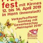 Einladung zum Frühlingsfest vom 12. bis 14. April 2019
