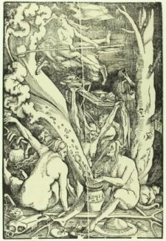 Die Hexen von Hans Baldung Grien, 1510, Stiftung Schloss Friedenstein, Gotha. Foto: © Stiftung Schloss
