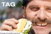 Plakat des Weltfischbrötchentages, Stadt Hohwacht
