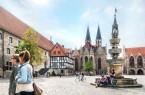 """Der Altstadtmarkt ist ein steinernes Zeugnis der Braunschweiger Hanseepoche und eines der Ziele der Themenführung """"Braunschweig – Hansestadt an der Oker"""". (Foto: Braunschweig Stadtmarketing GmbH/Marek Kruszewski)"""