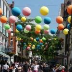 99 Luftballons über der Mittleren Berliner Straße